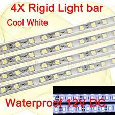 4X 50cm 30 LED 5050 SMD waterproof cool white aluminium Rigid Strip Light 12V DC