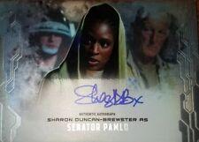 STAR WARS MASTERWORKS SHARON DUNCAN-BREWSTER AUTOGRAPH SEN. PAMLO RARE 1/50 $