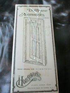 HOUSEWORK'S Vintage WOOD DOOR w/FRAME DOLLHOUSE  - 1970's - Model #6001