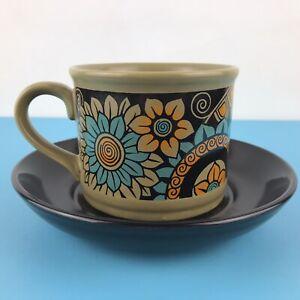 Vintage Retro Sadler England Floral Tea Coffee Cup and Saucer