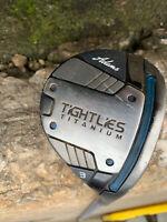 Adams Tight Lies Titanium 3 Wood Bassara Stiff Flex Graphite Shaft 55 Grams