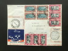 NETHERLANDS/ SOUTH AFRICA 1938 Cover used both ways cancels!!!!