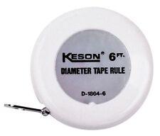 KESON D18646 Tape Measure, 1/4 In x 6 ft, White, In./Ft.