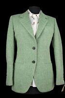 Ladies Tweed Country Blazer Jacket - ITALIAN TAILORED WOOL -UK 8 #994 PRISTINE
