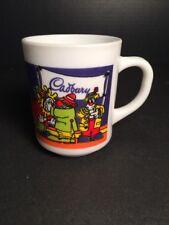 Rare Vintage Cadbury Chocolate Milk Glass Mug with Clowns Arcopal France