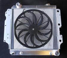 "3ROW ALUMINUM RADIATOR FOR 1987-2004 JEEP WRANGLER YJ GM CHEVY V8 CONV +16"" FAN"