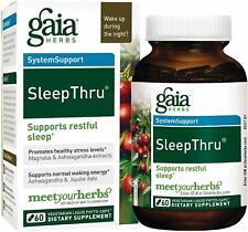 SleepThru, Gaia Herbs, 60 capsule