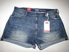 c7eb10f8 Levi's Women's Denim High Rise Short Shorts Size 20 Blue Stretch Mini Jean