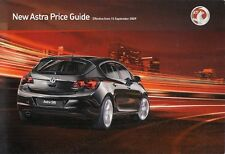 Vauxhall Astra 5-dr Prices & Optional Extras 2009-10 UK Market Foldout Brochure