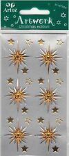 Gold Xmas North Star Craft Embellishment Christmas Festive Card Stickers