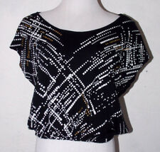 Rock and Republic Womens Large Crop Top Abstract Studded Geometric Club Wear