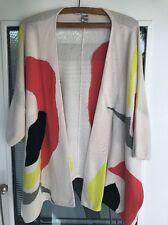 "Diane Von Furstenberg Long Front Knit Cardigan Colourful LGE ""Bleyna"" AUTHENTIC"