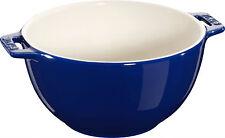 STAUB Céramique Bol de salade Saladier Panier Fruits rond bleu foncé 18 C