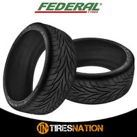 (2) New FEDERAL 595 275/40ZR18 99W Ultra High Performance Tires