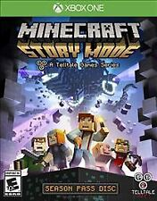 Minecraft: Story Mode - Season Pass Disc Xbox One w/Case,Art,No Inserts LN