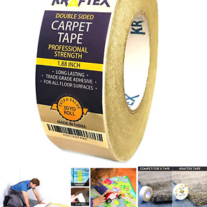 Double Sided Carpet Tape 90ft/30Yrd Roll Double Sided Tape Heavy Duty for Rug...