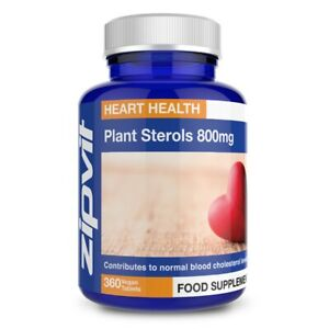 Plant Sterols 800mg (phytosterols 95%) - Vegan Tablets - Proven To Lower Chol...