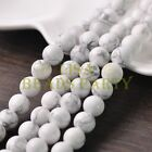 20pcs 10mm Round Natural Stone Loose Gemstone Beads White Howlite