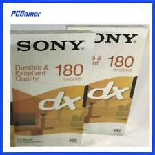 Sony 180 DX VHS Video Cassette Tapes 3 Hours X2