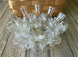 Glass Multi Cluster stackable Bud Vase 18 Flower Floral Arranger Ring 8.25 x 4.5