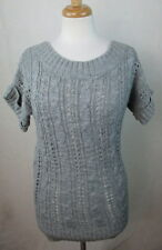 ABERCROMBIE FITCH MEDIUM M WOOL BLEND KNIT ACCENT CABLE KNIT TOP SWEATER S/S