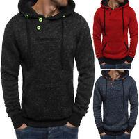 Men's Winter Hoodie Slim Hooded Sweatshirt Outwear Pullover Sweater Coat Jacket