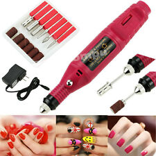 6 in 1 Electric Pen Shape Nail care File Drill Polish Art Manicure Machine Tool
