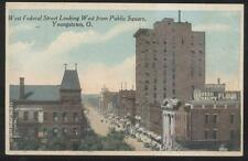 POSTCARD~YOUNGSTOWN OHIO W FEDERAL~CHELEKIS GREEK DELI/QUEEN FLOUR ADS~1910'S