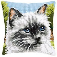 Siamois Chat - Vervaco - Grand perforé Toile Tapisserie Kit Coussin - PN-0146067