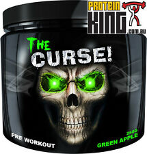 COBRA LABS THE CURSE 250G PRE WORKOUT GREEN APPLE 50 SERVE ENERGY C4 CELLUCOR