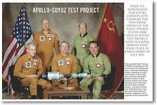 Apollo-Soyuz Test Project - NEW Classroom Astronomy Science Poster