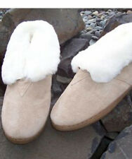 Lady's Genuine Australian Shearling Sheepskin/Suede Slippers Wool Booties