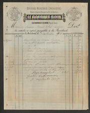 """LA BOURBOULE (63) EPICERIE MERCERIE DROGUERIE """"LE DOURNER & ROUX"""" en 1913"""