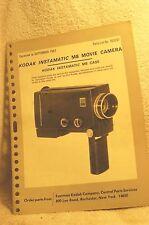 Kodak Instamatic M8 Movie Camera. Parts Manual
