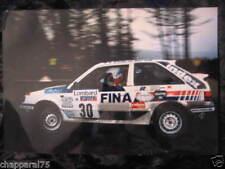 PHOTO ARGENTIQUE MAZDA 323 4WD 30 x 45,5 cm DE MEVIUS LUX RALLYE RAC RALLY