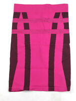 New Bebe Womens Seamless Straight Pencil Above Knee Printed Skirt Hot Pink $59