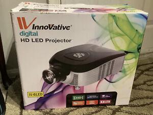 Innovative Digital HD Projector IV-6LED Black NIB