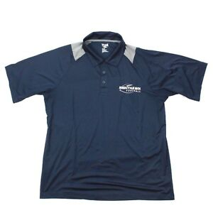 NIGHTHAWK Football Polo Shirt Navy Performance Polo Adult Large L Polyester Men