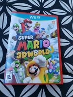 Super Mario 3D World (Nintendo Wii U, 2013) Complete CIB w/ Manual