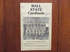 1981 Ball State Women's Basketball Program(13 Signed/KAREN  BAUER/DEBBIE POWERS)