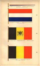DUTCH/BELGIAN ROYAL FLAGS. War pennant ensign standard merchant Netherlands 1873