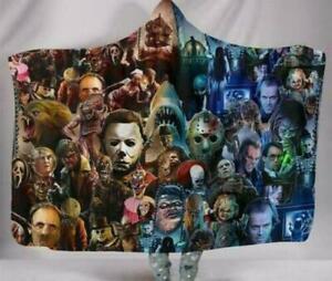 Horror Movie Blanket Fleece Sherpa Throw Cloak Wearable Blanket N1