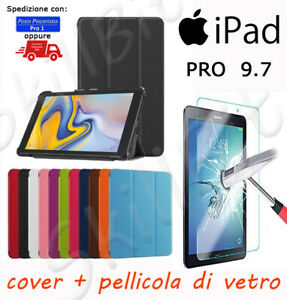 CUSTODIA COVER STAND UP PELLE PER APPLE IPAD PRO 9.7 IPOD 9.7'' PRO9.7 + VETRO