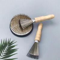 Japanese Ikebana Kenzan Needle Cleaning Rake Flower Frog Cleaner Brush Tools
