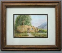 KATHERINE PADGETT__'Adobe Home'__Orig Framed Watercolor/Gouache__ExC__SHIPS FREE