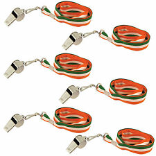 St Patrick's Day - Set of 6 Whistles on Lanyard - Party Dress Up