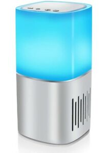 Bedside Lamp with Bluetooth Speaker, 3 Touch Dimmable Night Light and 7 Colors