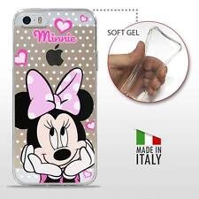 iPhone 5 5S SE TPU CASE COVER PROTETTIVA GEL TRASPARENTE Disney Minnie Mouse
