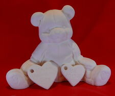 Valentine Bear With Hearts (V3) Ceramic Bisque Ready To Paint