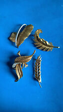 Vintage Lot 4 X Broches Plaqué Or / Brooch